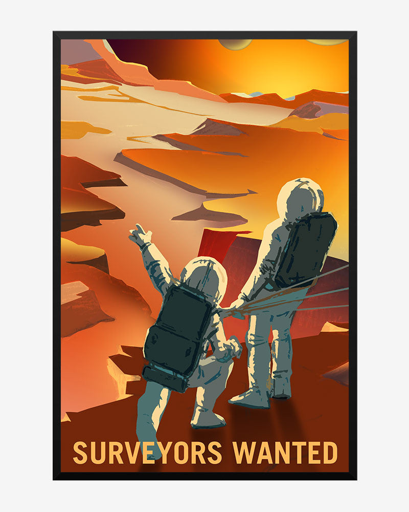 space posters, nasa mars exolorers wanted, surveyors wanted