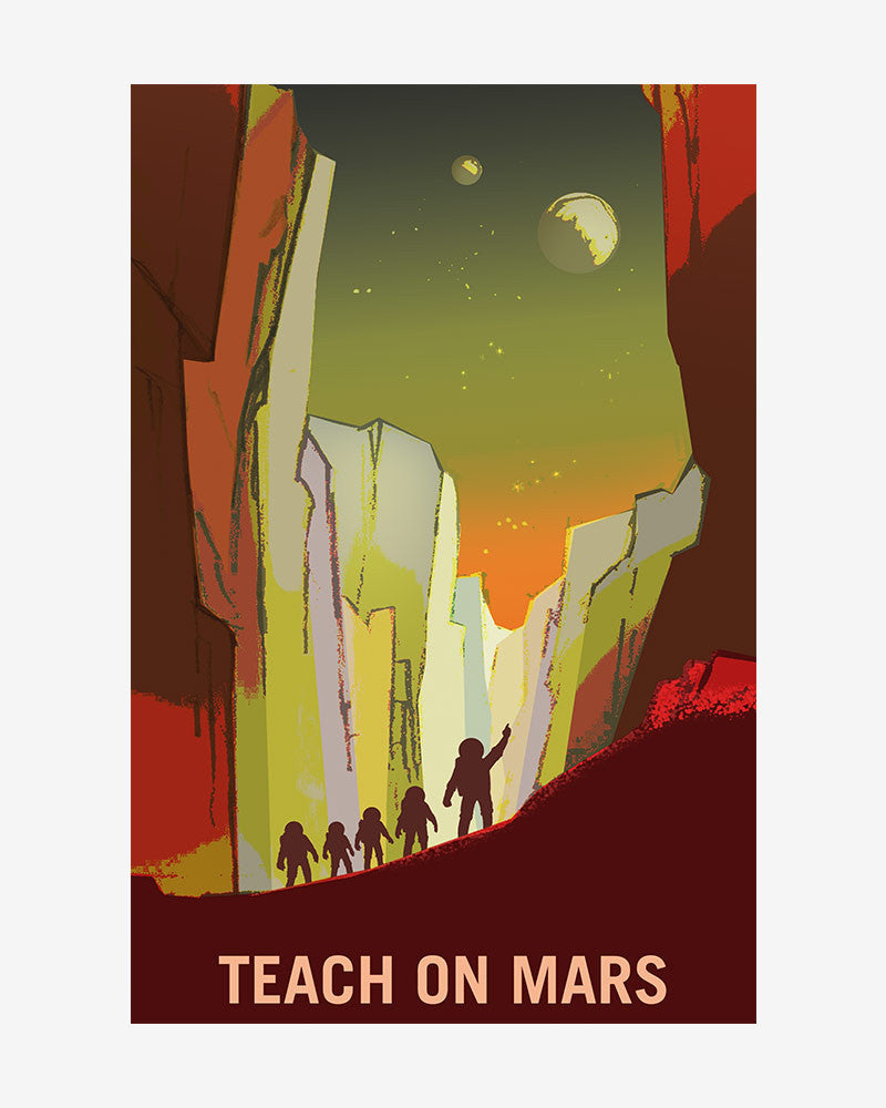 space posters, nasa mars exolorers wanted, teach on mars