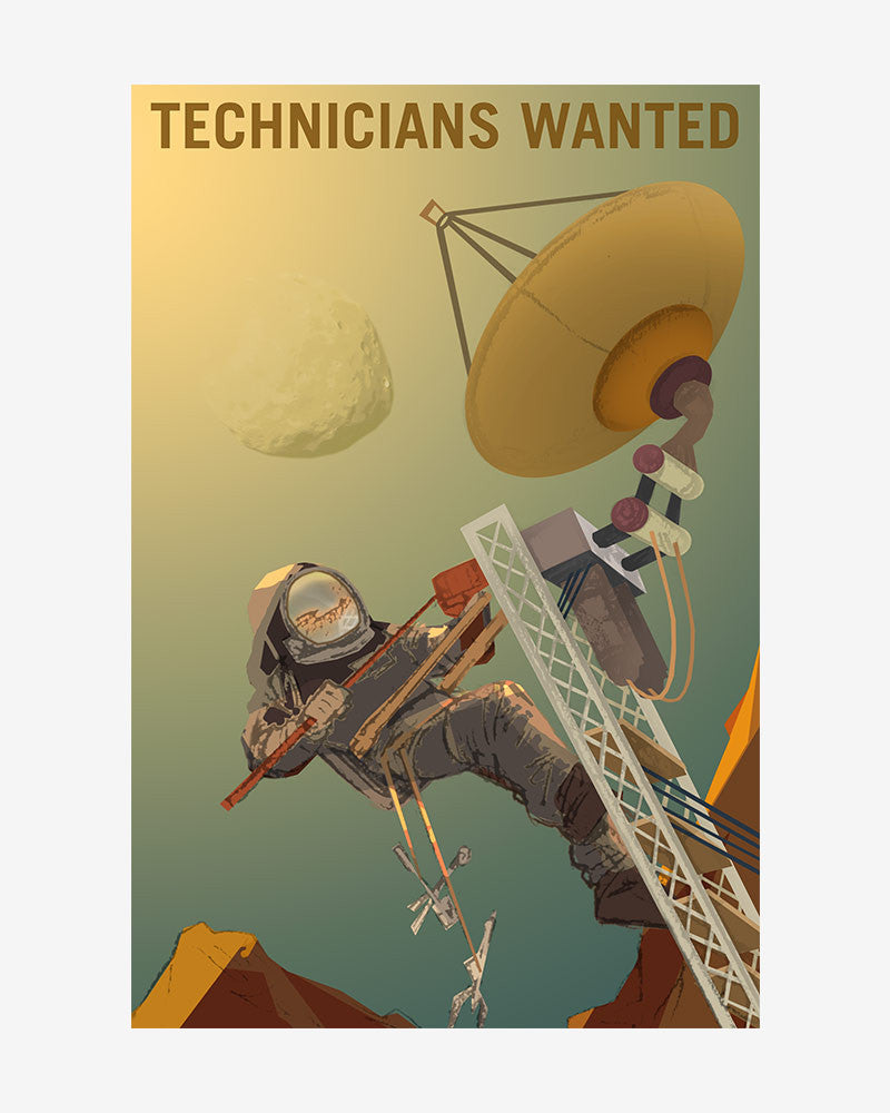 space posters, nasa mars exolorers wanted, technicians wanted