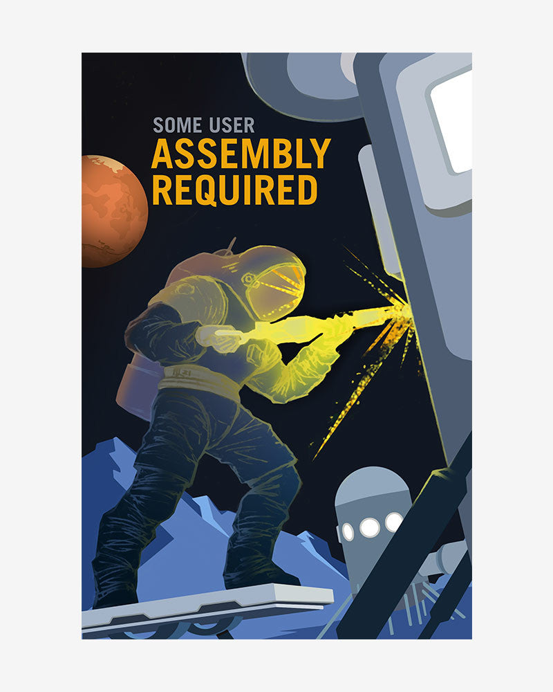 space posters, nasa mars exolorers wanted, some user assembly required