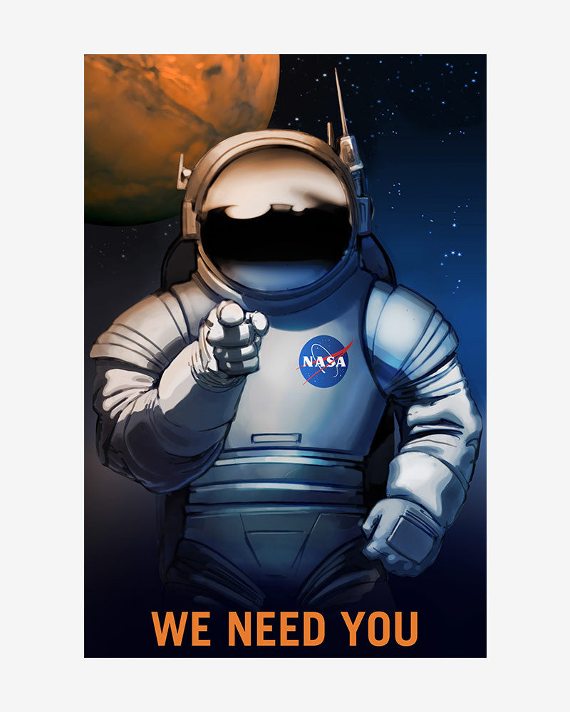 space posters, nasa mars exolorers wanted, we need you