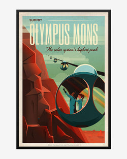 Olympus Mons - SpaceX Mars Travel