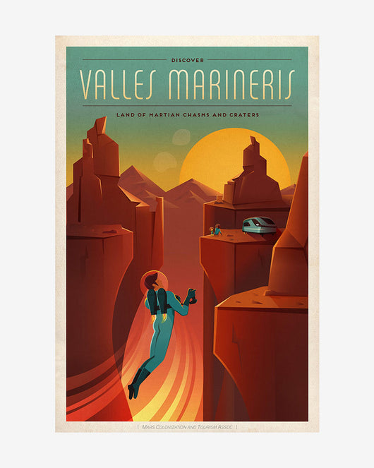 Valles Marineris - SpaceX Mars Travel