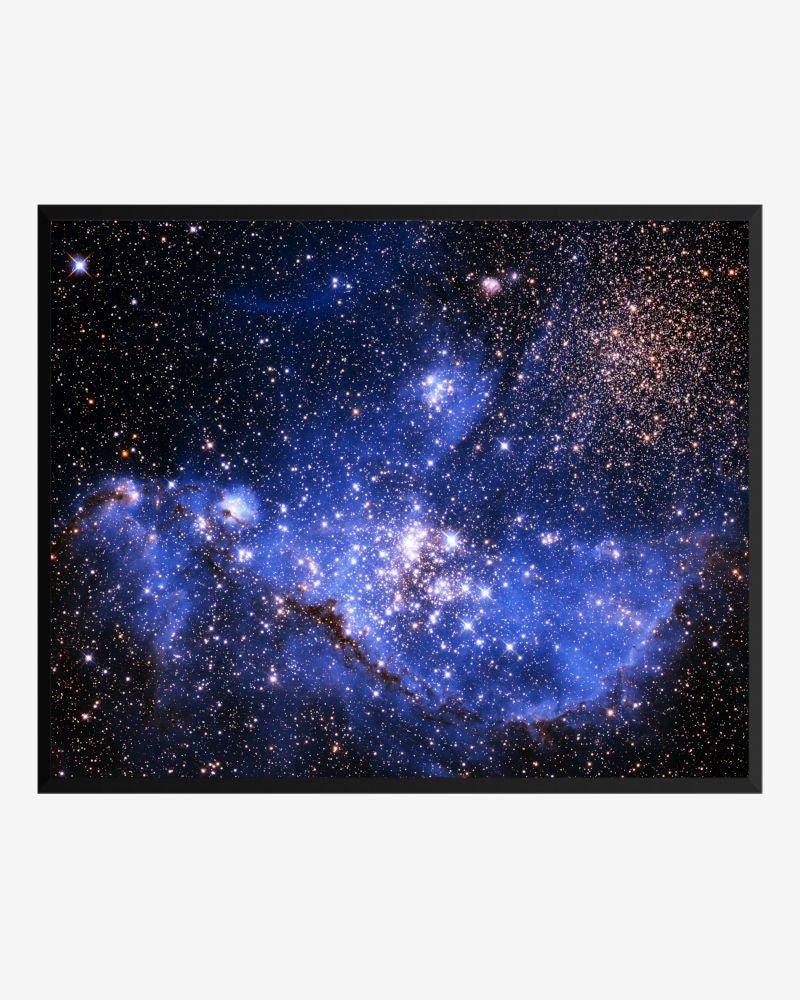 space posters, astronomy posters, hubble images, infant stars in the small  magellanic cloud