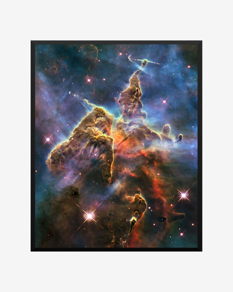 space posters, astronomy posters, hubble images,  mystic mountain, mystic mountain carina nebula