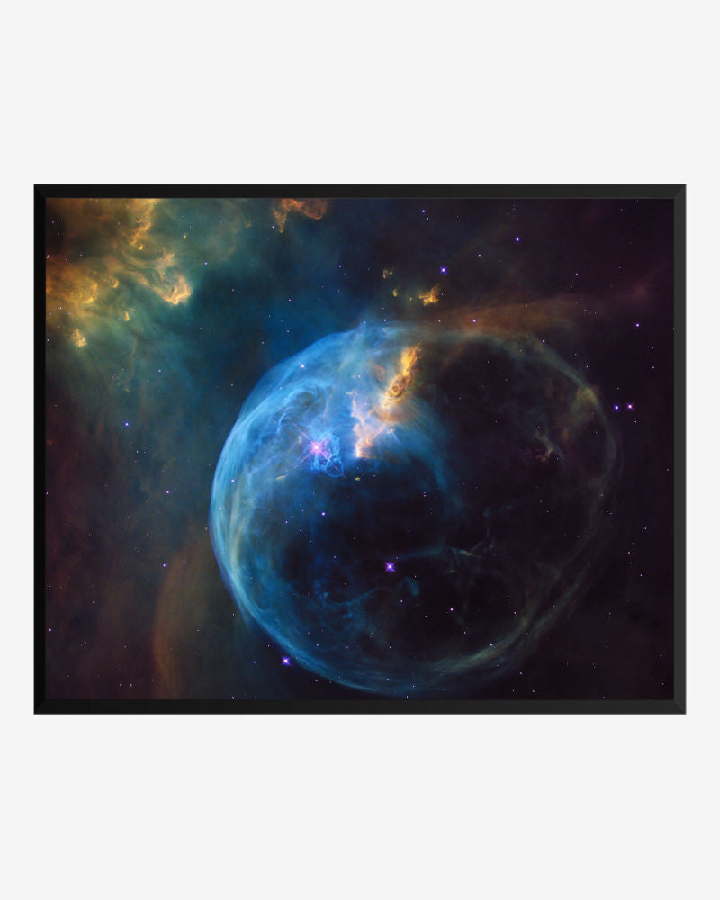 Bubble nebula poster framed
