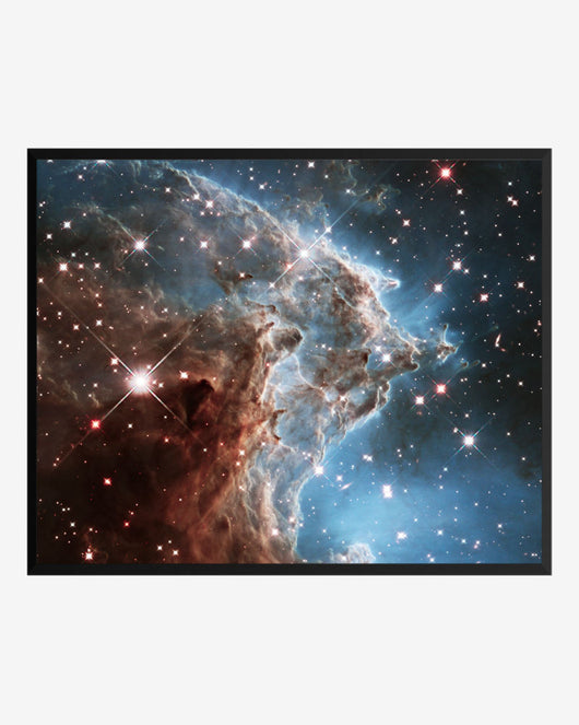 Monkey head nebula poster framed