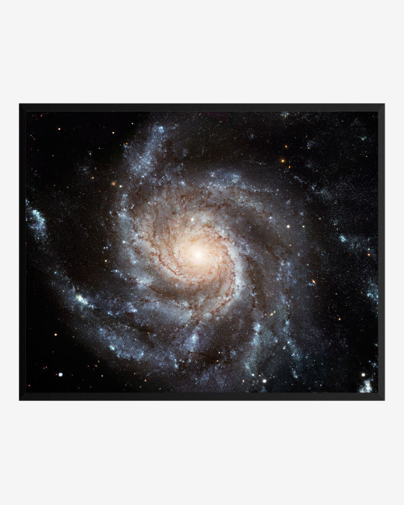 space posters, astronomy posters, hubble images, spiral galaxy m101