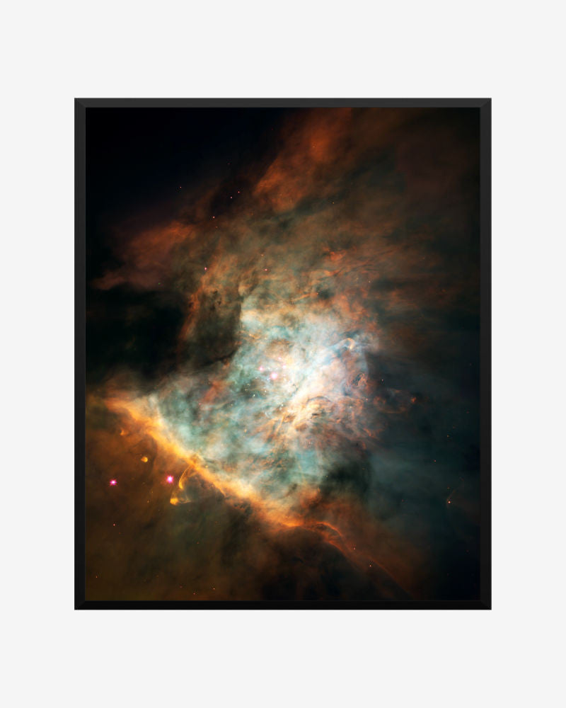space posters, astronomy posters, hubble images,  stars birthing in orion nebula, star birthing region in the orion