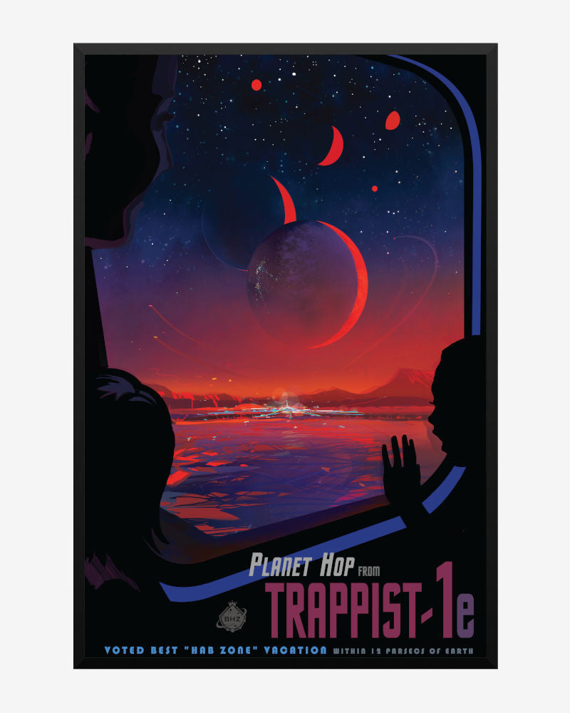space posters, nasa visions of the future, trappist 1e