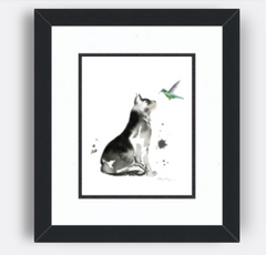 Satin Black from with Super White and Black Double Mat - ArttoFrame