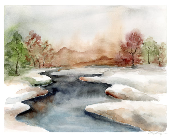 Before Spring - Limited Edition Watercolor Art Print