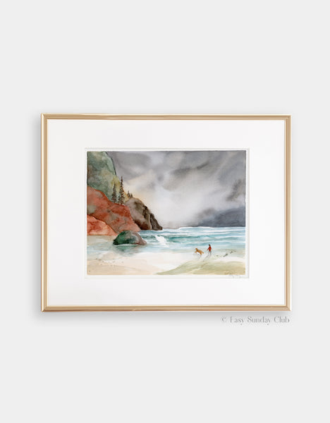 "Oregon Coast - Original Watercolor Painting - 8"" x10"""