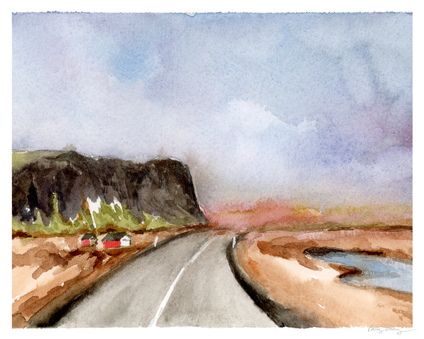Open Road - Limited Edition Watercolor Art Print