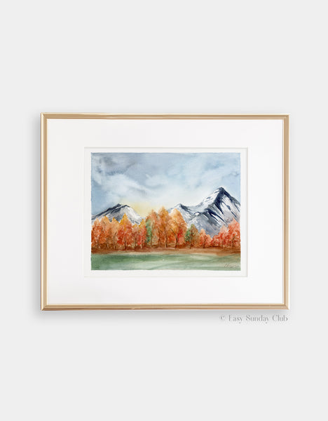 "Autumn Aspens - Original Watercolor Painting - 8"" x10"""