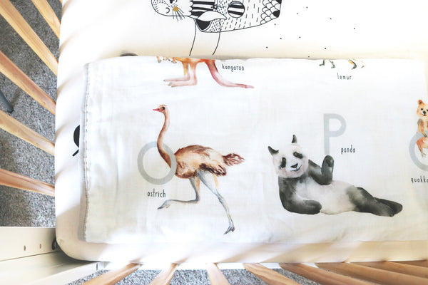 Animal Alphabet Baby and Toddler Blanket