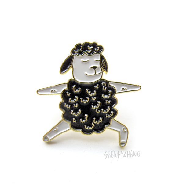 Black Sheep Warrior 1 - Yoga Enamel Pin