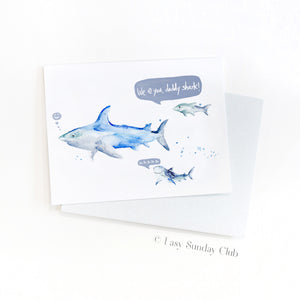 Daddy and Baby Shark Card