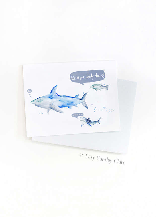 Daddy and Baby Shark Card 1