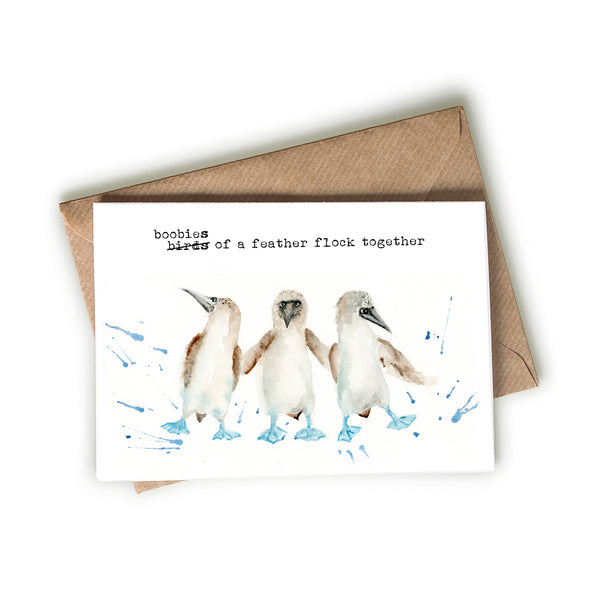 Blue-Footed Boobies Friendship Flock Card