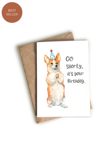 Corgi Happy Birthday Card