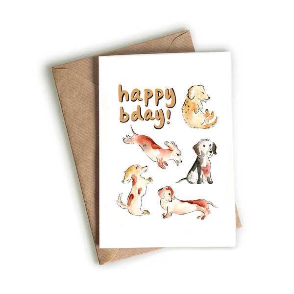 Dachshund Squad Birthday Card