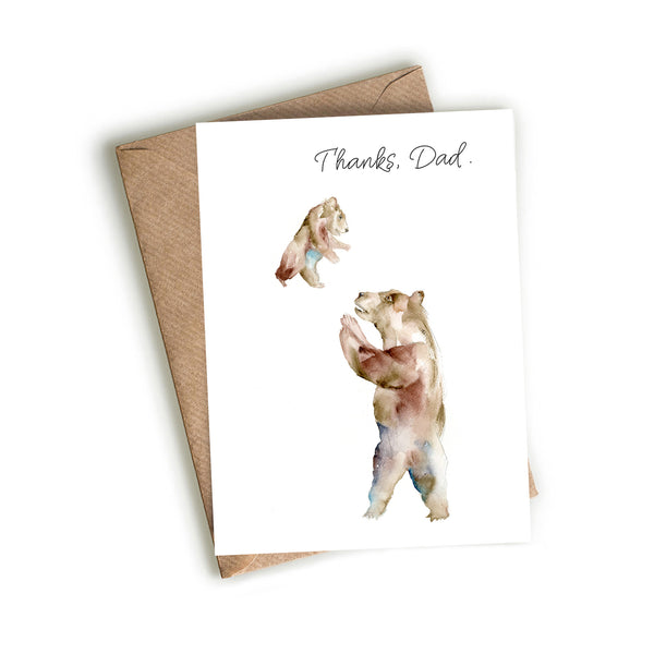 Bear Dad and Cub Card