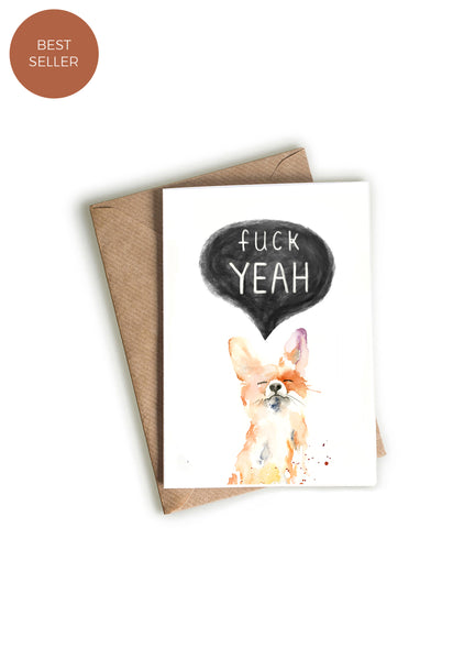 F- Yeah! Fox Greeting Card