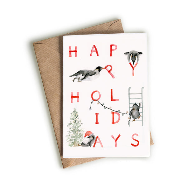 Penguin Happy Holidays Card
