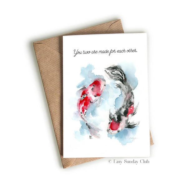 Koi Fish - Made for Each Other Card