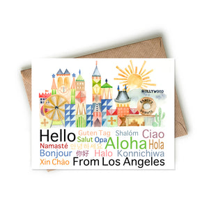 Hello from Los Angeles Card