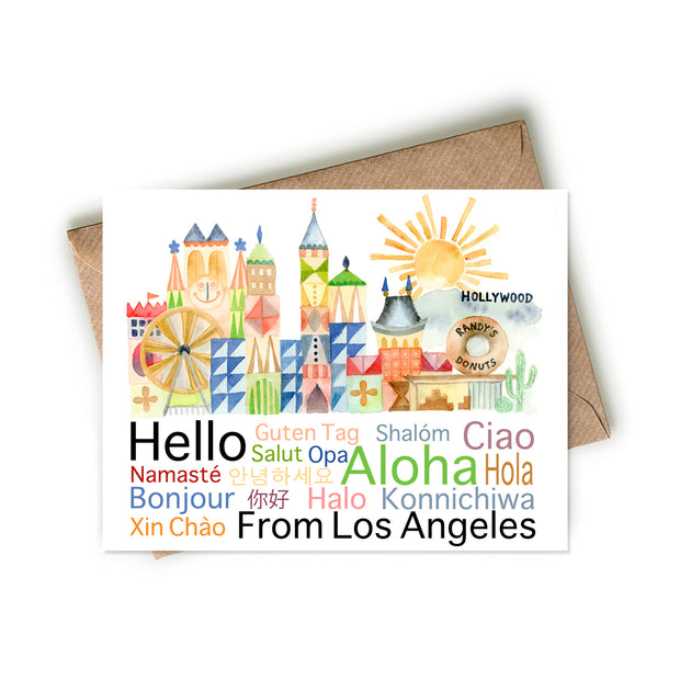 Hello from Los Angeles Card 1