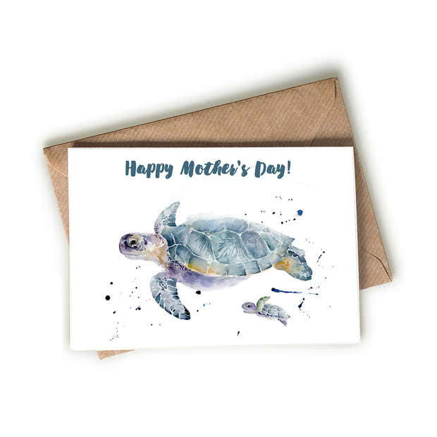 Sea Turtle Mother's Day Card 1