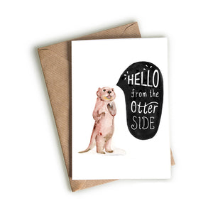 Hello from the Otter-side Card