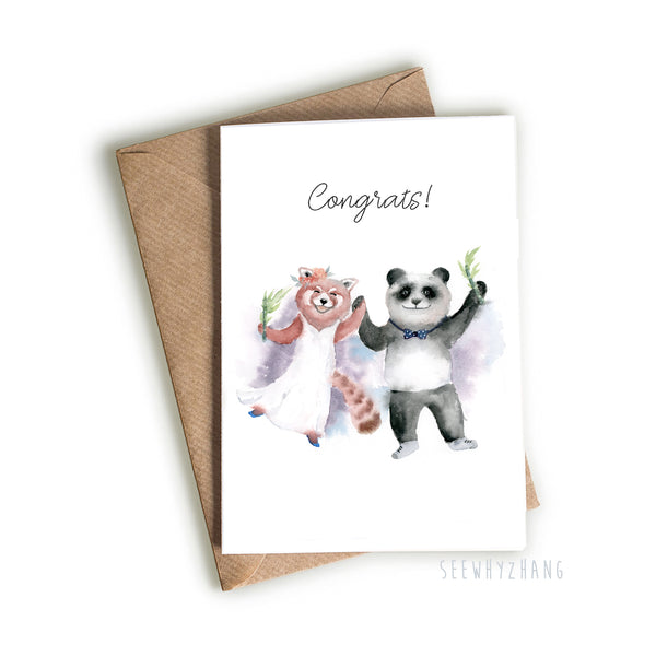 Panda Wedding Card