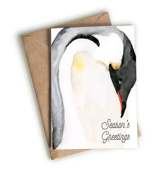 Emperor Penguin Season's Greetings Card