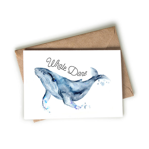 Blue Whale - Whale Done! Card
