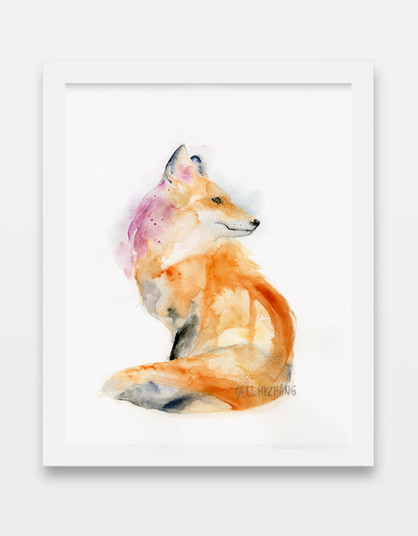 Graceful Fox - Watercolor Art Print