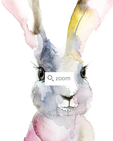 "Harper the Humble Hare Original Watercolor Painting - 9""x12"""