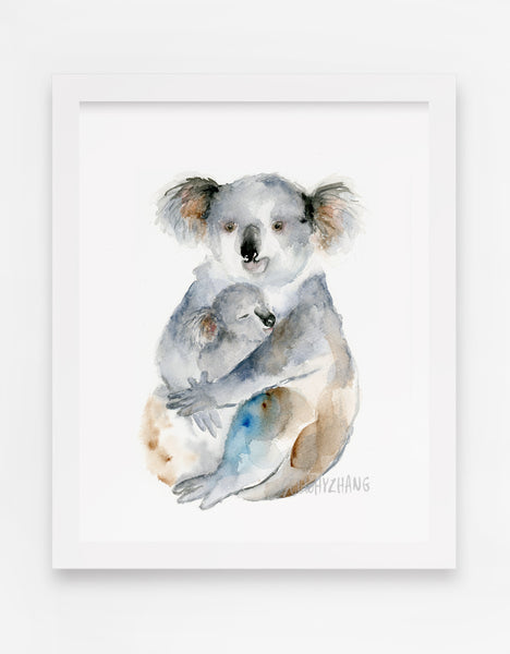 Koala modern watercolor art print