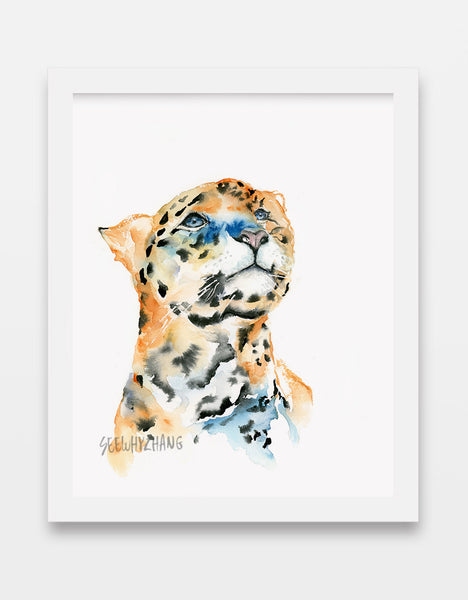Leopard - Big Wild Cat Watercolor Art Print