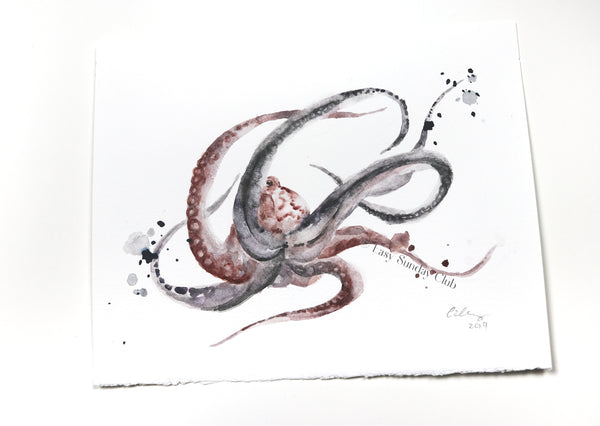 Octopus watercolor painting | octopus art