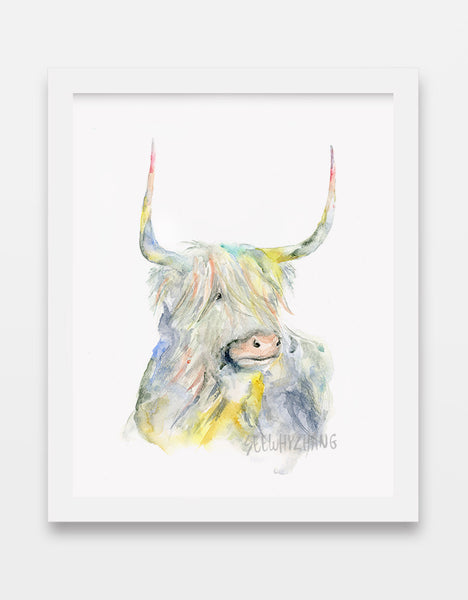 chinese zodiac - ox watercolor art print