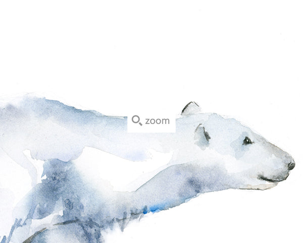 Polar Bear Mother and Cub Art Print - Alphabet in the Wild