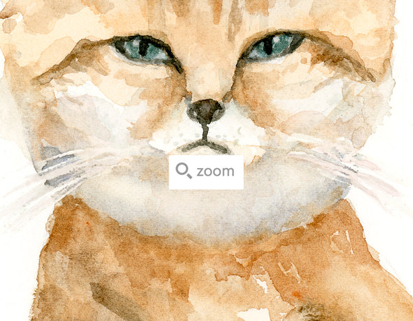 "Haley the Sand Cat - Original Watercolor Painting - 8""x10"""