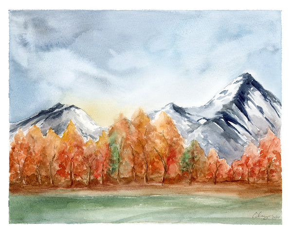 Autumn Aspens - Limited Edition Watercolor Art Print