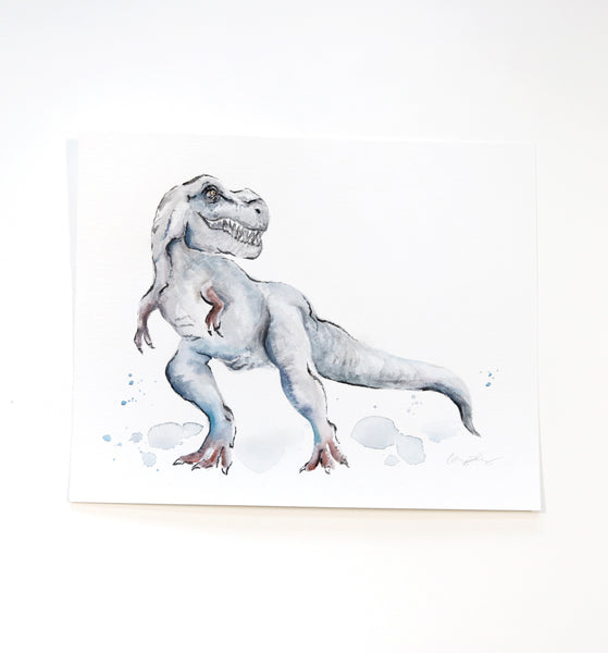 trex watercolor art