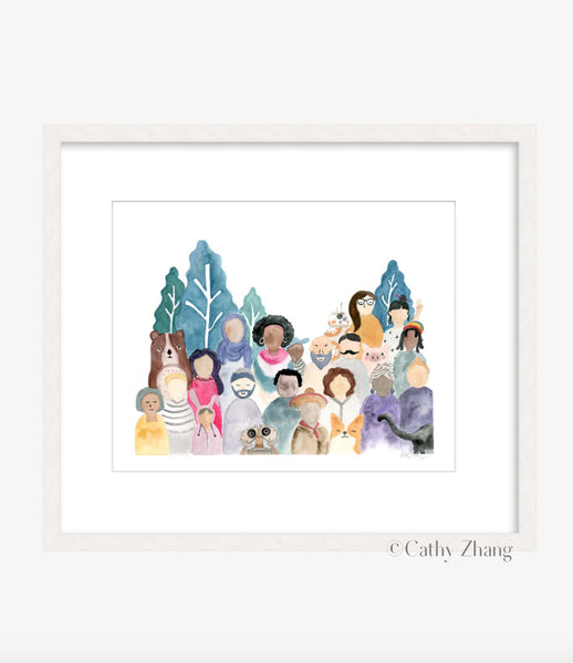 Strength in Diversity - Watercolor Art Print