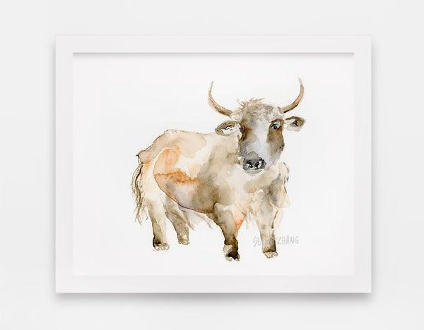 You Don't Know Yak Art Print - Alphabet in the Wild