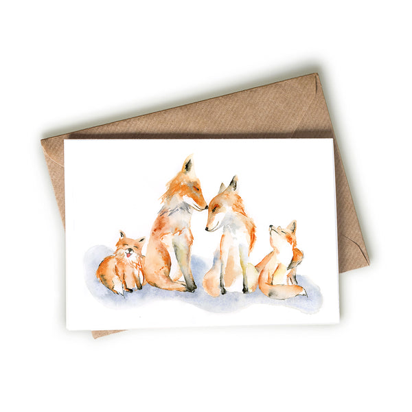 Fox Family Card